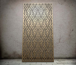 CNC Laser Cut Outdoor Metal Screen Garden Partition Panel