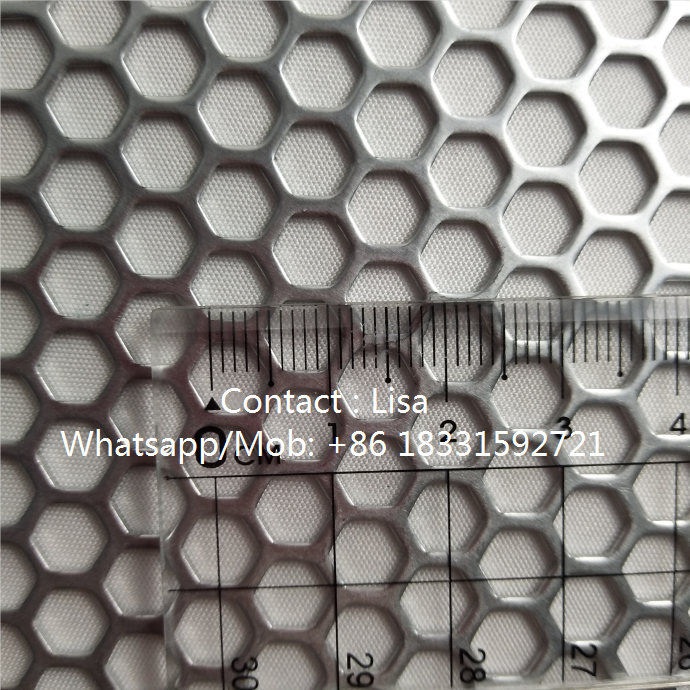Hexagonal hole details-perforated sheet